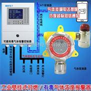 调漆车间油漆稀料气体检测报警器,毒性气体报警器与防爆电磁阀门怎么连接
