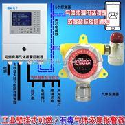 冷库制冷车间氨气浓度报警器,煤气泄漏报警器与防爆电磁阀门怎么连接
