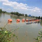 供应水源地拦污pe浮筒 塑料夹网浮筒