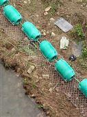 镀锌拦污网浮体 电站横截面双排拦污桶