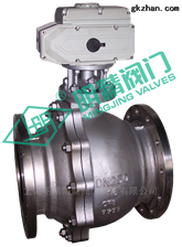 Q941F不锈钢法兰大口径浮动式电动球阀