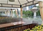 户外餐厅喷雾降温