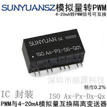 模拟信号转PWM可编程隔离变送器IC