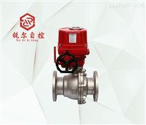 FBQ941F 防爆电动法兰球阀,上海锐尔阀门厂