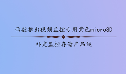 西数推出视频监控专用紫色microSD