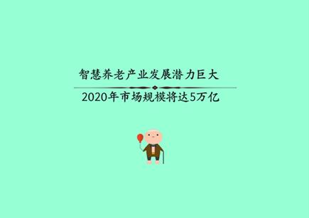 智慧养老产业发展潜力巨大 2020年市场规模将达5万亿