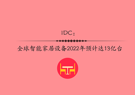 IDC:全球智能家居設備2022年預計達13億臺