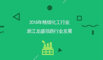 2018年精细化工行业市场竞争现状和发展趋势分析 浙江龙盛领跑行业发展【组图】