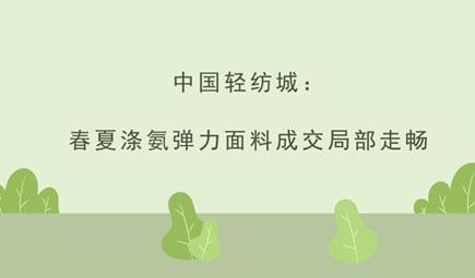 中国轻纺城:春夏涤氨弹力面料成交局部走畅