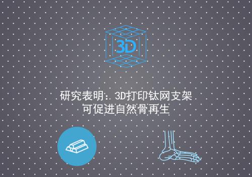 研究表明:3D打印钛网支架可促进自然骨再生